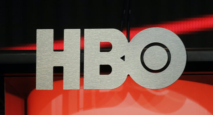 The logo for HBO,Home Box Office, the American premium cable television network, owned by Time Warner, is pictured during the HBO presentation at the Cable portion of the Television Critics Association Summer press tour in Beverly Hills, California August 1, 2012. REUTERS/Fred Prouser   (UNITED STATES - Tags: ENTERTAINMENT) - GM1E8820ZIT01