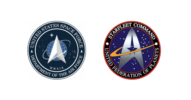 Space Force and Starfleet logo